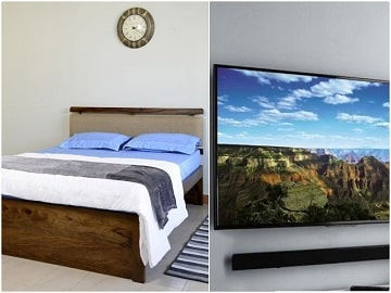 Belle Double Bed and LED TV